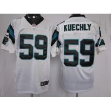 Carolina Panthers 59 Kuechly White Nike Elite Jersey
