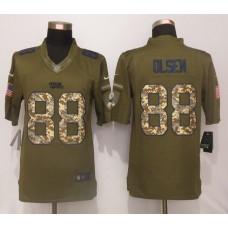 Carolina Panthers 88 Olsen Green Salute To Service New Nike Limited Jersey