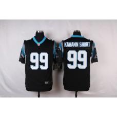 NFL Customize Carolina Panthers 99 Kawann short Black Men Nike Elite Jerseys