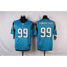 NFL Customize Carolina Panthers 99 Kawann short Blue Men Nike Elite Jerseys