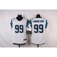 NFL Customize Carolina Panthers 99 Kawann short White Men Nike Elite Jerseys