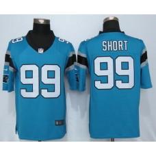 Carolina Panthers 99 Short Blue Nike Limited Jerseys