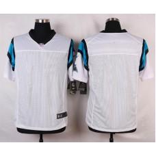 NFL Customize Carolina Panthers Blank White 2015 Elite Nike Jerseys