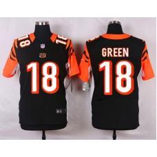 NFL Customize Cincinnati Bengals 18 Green Black 2015 Nike Elite Jersey
