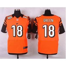 NFL Customize Cincinnati Bengals 18 Green Orange 2015 Nike Elite Jersey