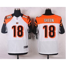 NFL Customize Cincinnati Bengals 18 Green White 2015 Nike Elite Jersey