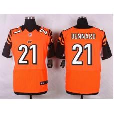 NFL Customize Cincinnati Bengals 21 Dennard Orange Men Nike Elite Jerseys