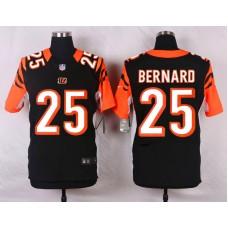 NFL Customize Cincinnati Bengals 25 Bernard Black Men Nike Elite Jerseys