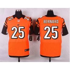NFL Customize Cincinnati Bengals 25 Bernard Orange Men Nike Elite Jerseys