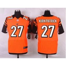NFL Customize Cincinnati Bengals 27 Kirkpatrick Orange 2015 Elite Nike jerseys