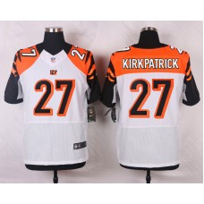 NFL Customize Cincinnati Bengals 27 Kirkpatrick White 2015 Elite Nike jerseys