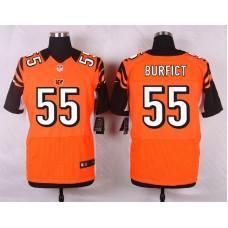 NFL Customize Cincinnati Bengals 55 Burfict Orange Men Nike Elite Jerseys