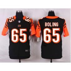 NFL Customize Cincinnati Bengals 65 Boling Black Men Nike Elite Jerseys