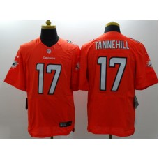 Miami Dolphins 17 Tannehill Orange Nike Elite Jerseys