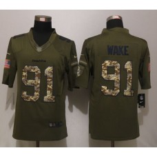 Miami Dolphins 91 Wake Green Salute To Service New Nike Limited Jersey