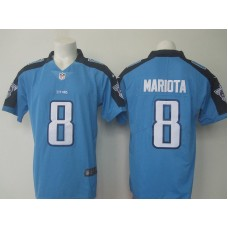 NEW Nike Tennessee Titans 8 Mariota blue Color Rush Limited Jersey