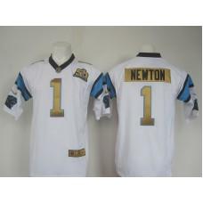 NFL Carolina Panthers 1 Cam Newton white 50th nike 2016 jerseys