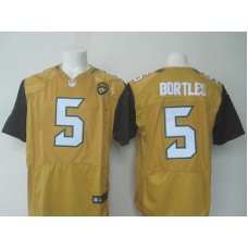 NFL Jacksonville Jaguars 5 Bortles yellow Nike elite 2016 jerseys