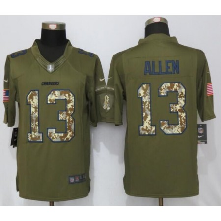 Los Angeles Chargers 13 Allen Green Salute To Service New Nike Limited Jersey