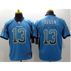 Los Angeles Chargers13 Keenan Allen Blue Drift Fashion Nike Elite Jerseys