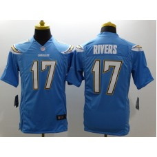 Los Angeles Chargers 17 Rivers LT Blue Nike Limited Jerseys
