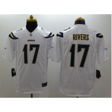 Los Angeles Chargers 17 Rivers White Nike Limited Jerseys
