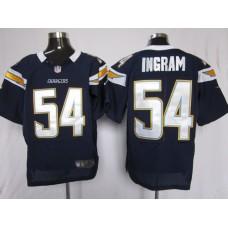 Los Angeles Chargers 54 Ingram Blue Nike Elite Jersey