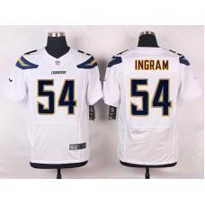 Los Angeles Chargers 54 Ingram White Men Nike Elite Jerseys