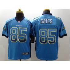 Los Angeles Chargers 85 Antonio Gates Blue Drift Fashion Nike Elite Jerseys