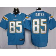 Los Angeles Chargers 85 Gates Light Blue Nike Elite Jersey