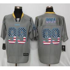 Los Angeles Chargers 99 Bosa USA Flag Fashion Gray New Nike Elite Jerseys