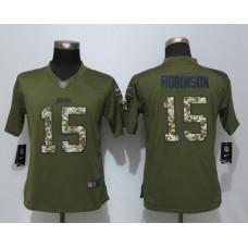 Women Nike Jacksonville Jaguars 15 Robinson Green Salute To Service Limited Jersey