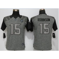 Womens Jacksonville Jaguars 15 Robinson Gray Stitched Gridiron  New Nike Limited Jersey