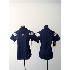 Womens San Diego Charger Blank Blue Nike Jerseys