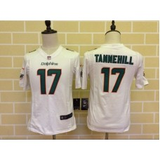 Youth Miami Dolphins 17 Tannehill White 2015 Nike Jersey