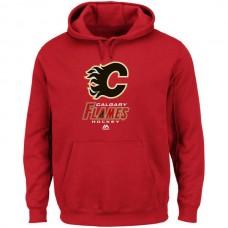 2016 NHL Calgary Flames Majestic Critical Victory VIII Fleece Hoodie - Red
