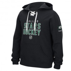 2016 NHL Dallas Stars Reebok Stitch Em Up Lace Hoodie - Black