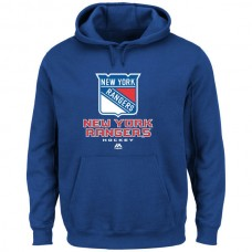 2016 NHL Majsetic New York Rangers Critical Victory VIII Pullover Hoodie - Royal Blue