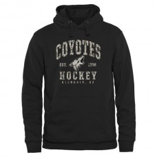 2016 NHL Mens Arizona Coyotes Black Camo Stack Pullover Hoodie
