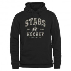 2016 NHL Men Dallas Stars Black Camo Stack Pullover Hoodie