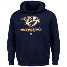 2016 NHL Nashville Predators Majestic Critical Victory VIII Fleece Hoodie - Navy Blue
