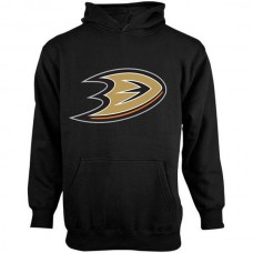 2016 NHL Old Time Hockey Anaheim Ducks Youth Big Logo Fleece Pullover Hoodie - Black