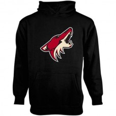 2016 NHL Old Time Hockey Arizona Coyotes Youth Big Logo Fleece Pullover Hoodie - Black