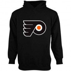 2016 NHL Old Time Hockey Philadelphia Flyers Youth Big Logo Fleece Pullover Hoodie - Black