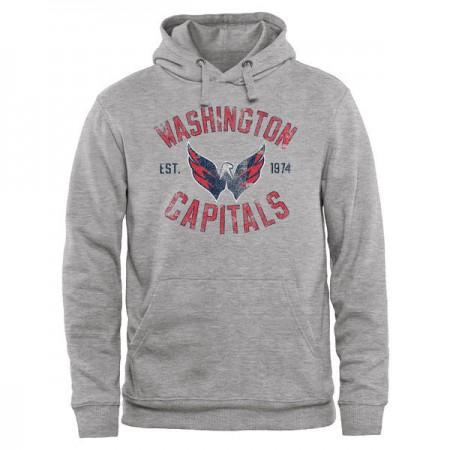 2016 NHL Washington Capitals Heritage Pullover Hoodie - Ash