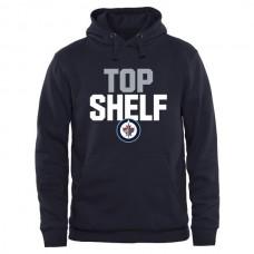 2016 NHL Winnipeg Jets Top Shelf Pullover Hoodie - Navy