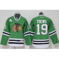 2017 Chicago Blackhawks 19 Toews green jerseys