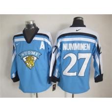 NHL Winnipeg Jets 27 TEPPO NUMMINEN 2015 Suomi Light Blue