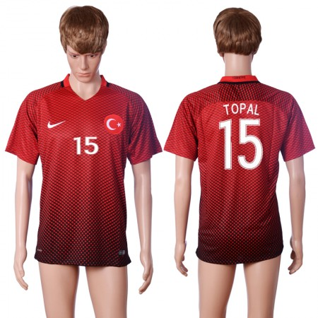 2016 European Cup Turkey home 15 TOPAL Red AAA+ Soccer Jersey