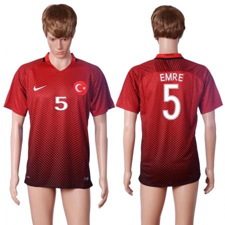 2016 European Cup Turkey home 5 EMRE Red AAA+ Soccer Jersey